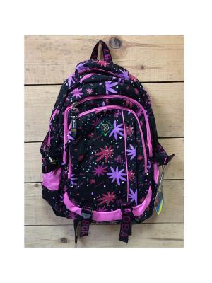 Рюкзак спортивный, цвет черный с яркими кляксами, Black18213, All About Me Gaoba. Цвет: черный, темно-фиолетовый, розовый