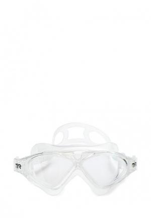 Маска для плавания TYR. Цвет: белый