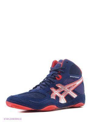 Специализированная обувь для борьбы SNAPDOWN ASICS. Цвет: синий, серебристый, красный