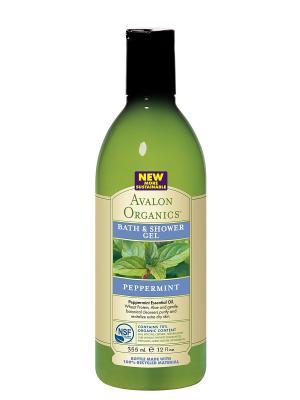 Гель для ванны и душа с маслом мяты,355 мл Avalon Organics. Цвет: прозрачный