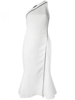 Платье на одно плечо David Koma. Цвет: белый
