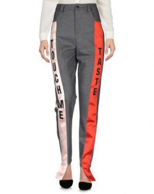 Повседневные брюки AU JOUR LE. Цвет: серый
