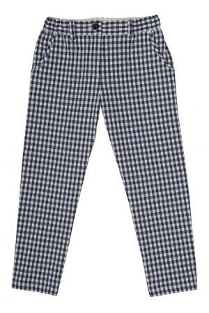 Хлопковые брюки Cactus Bonpoint. Цвет: синий