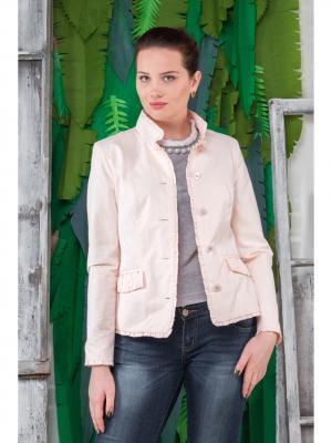 Куртка Соната Versia. Цвет: бледно-розовый
