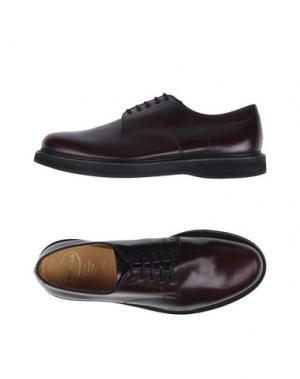 Обувь на шнурках CHURCH'S. Цвет: баклажанный
