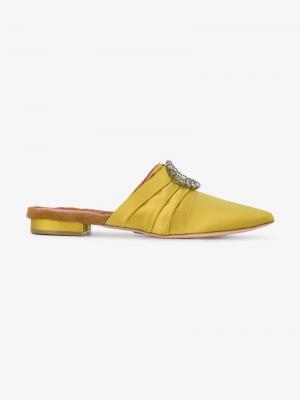 Мюли Eva 10 Oscar Tiye. Цвет: жёлтый и оранжевый