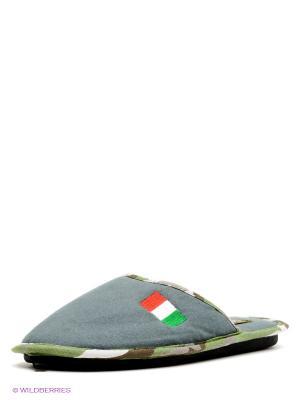 Тапочки De Fonseca. Цвет: серый, коричневый, зеленый