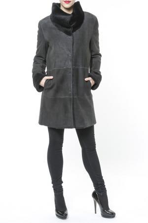Дубленка Jean Guise. Цвет: серый