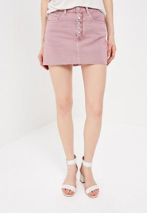 Юбка джинсовая Glamorous. Цвет: розовый