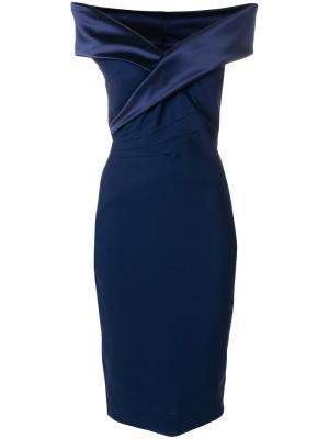 Платье бандо Chiara Boni La Petite Robe. Цвет: розовый и фиолетовый