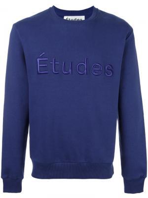 Толстовка Etoile Etudes Full Études. Цвет: синий