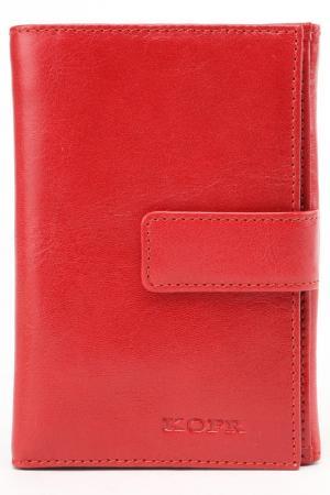 Бумажник KOFR. Цвет: красный