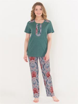 Комплект женский Лори. Цвет: зеленый