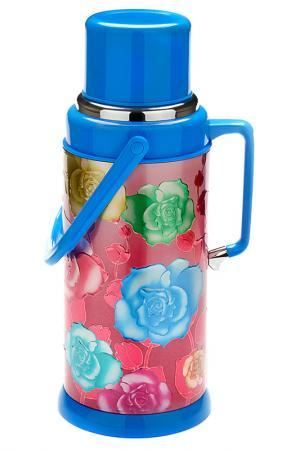 Термос Стеклянная колба 3,2л Mayer&Boch. Цвет: голубой