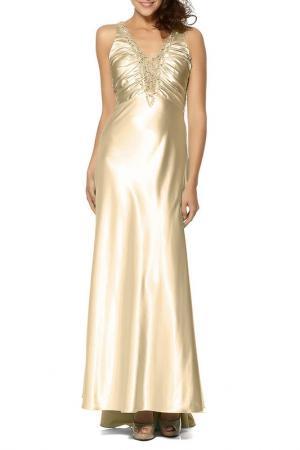 Платье YASMIN. Цвет: золотой