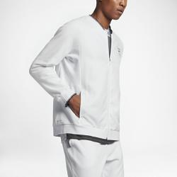Мужская теннисная куртка Court Nike. Цвет: белый