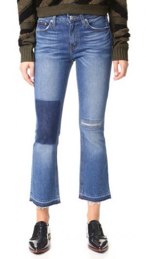 Укороченные расклешенные джинсы Gia со средней посадкой Derek Lam 10 Crosby. Цвет: голубой