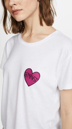 Feminist Heart Patch Tee Private Party