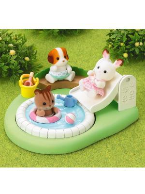 Игровой набор Бассейн для малышей Sylvanian Families. Цвет: зеленый, белый