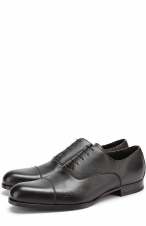 Классические кожаные оксфорды A. Testoni. Цвет: коричневый
