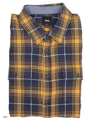 Рубашка SYCAMORE VANS. Цвет: темно-синий, коричневый