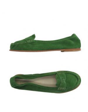Мокасины CANDICE COOPER. Цвет: зеленый