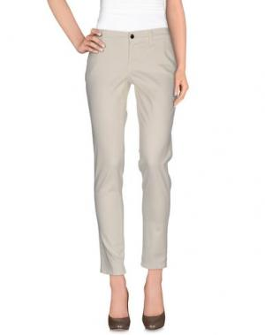 Повседневные брюки S.O.S by ORZA STUDIO. Цвет: слоновая кость
