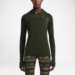 Женская худи для бега  Dri-FIT Wool Nike. Цвет: коричневый
