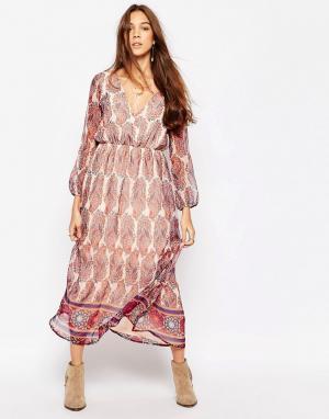 Diya Платье макси с принтом пейсли. Цвет: мульти