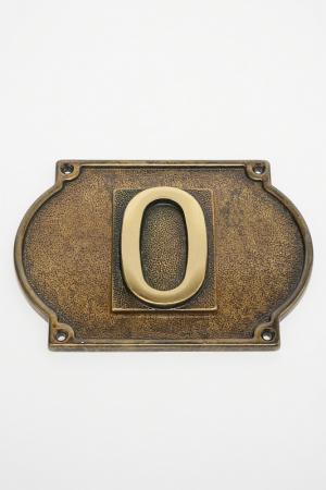 Цифра на дверь и подложка Stilars. Цвет: бронза