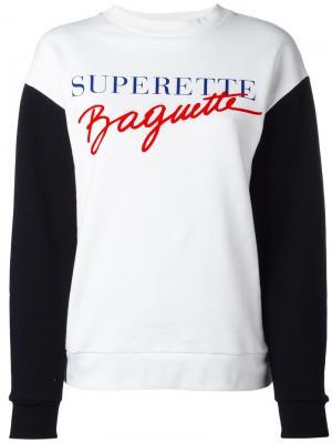 Superette Baguette sweatshirt Être Cécile. Цвет: белый