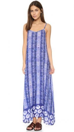 Пляжное платье Blue Diamond Bindya. Цвет: голубой