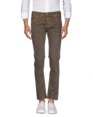 Джинсовые брюки MAISON CLOCHARD. Цвет: темно-коричневый