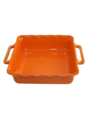 Квадратное блюдо 28 см 2,2л Appolia. Цвет: оранжевый