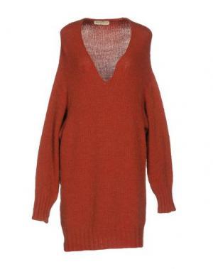 Короткое платье APPARTAMENTO 50. Цвет: кирпично-красный