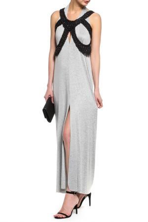 Платье, жилет Loyd Ford. Цвет: серый