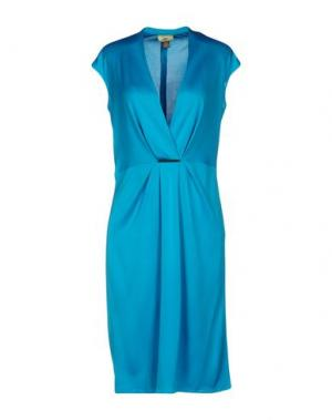 Короткое платье ISSA. Цвет: лазурный