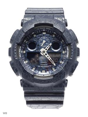 Часы G-Shock GA-100CG-2A CASIO. Цвет: синий