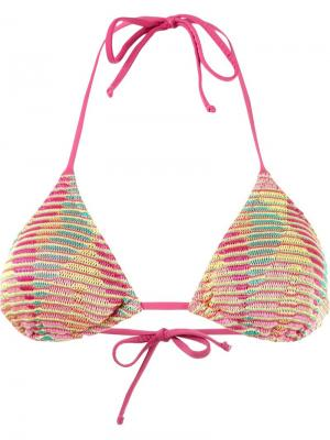 Knit triangle bikini top Cecilia Prado. Цвет: многоцветный
