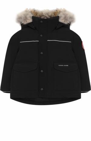 Пуховая куртка Lynx с меховой отделкой на капюшоне Canada Goose. Цвет: черный