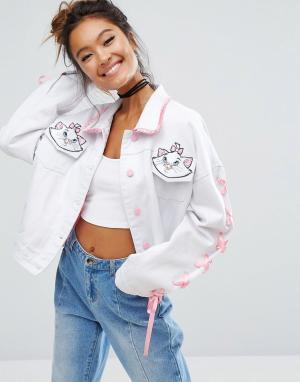 Lazy Oaf Джинсовая куртка X Disney Aristocats. Цвет: белый