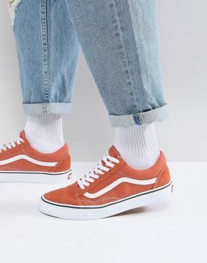 Vans Оранжевые кроссовки Old Skool VA38G1QSP. Цвет: оранжевый