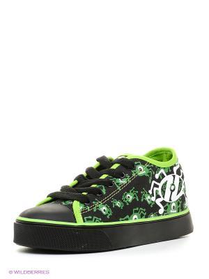 Кеды Heelys. Цвет: черный, зеленый, белый
