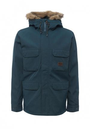 Куртка утепленная Billabong. Цвет: зеленый