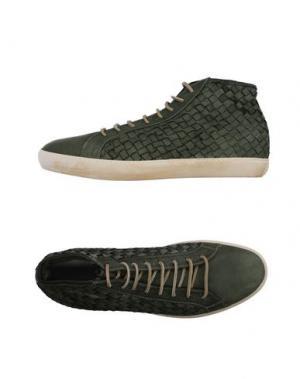 Высокие кеды и кроссовки PANTOFOLA D'ORO. Цвет: зеленый