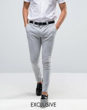 Noak Супероблегающие трикотажные брюки. Цвет: серый