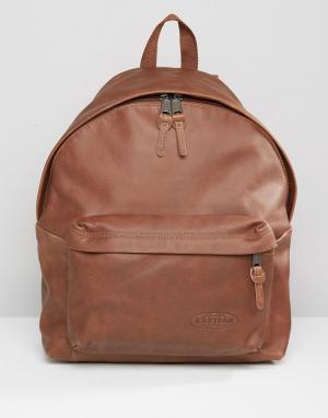 Eastpak Кожаный рюкзак Padded PakR. Цвет: коричневый