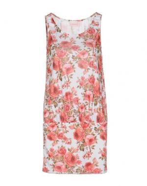 Короткое платье MISS NAORY. Цвет: белый