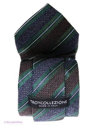 Галстук Troy collezione. Цвет: темно-зеленый, сливовый, темно-синий