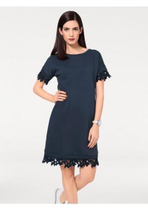 Платье B.C. BEST CONNECTIONS by Heine. Цвет: темно-синий
